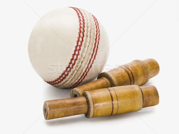 крикет мяча древесины новых фотографии Сток-фото © imagedb