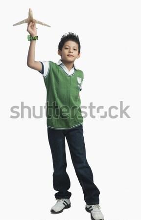 мальчика играет игрушку самолет моде ребенка Сток-фото © imagedb