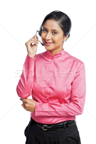 портрет женщины обслуживание клиентов представитель бизнеса женщину Сток-фото © imagedb
