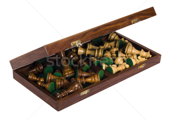 Satranç tahtası kutu grup oyun Stok fotoğraf © imagedb