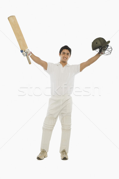 Portret vieren succes man sport glimlachend Stockfoto © imagedb