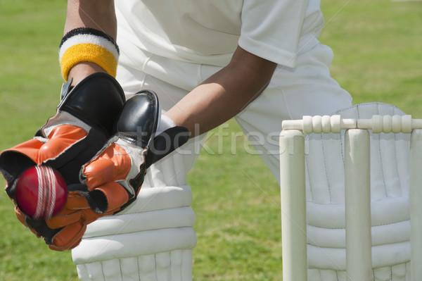 Piedi dietro sport sicurezza sicurezza cricket Foto d'archivio © imagedb