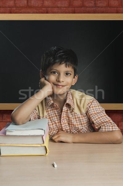 Stok fotoğraf: Erkek · öğretmen · sınıf · okul · eğitim · tablo