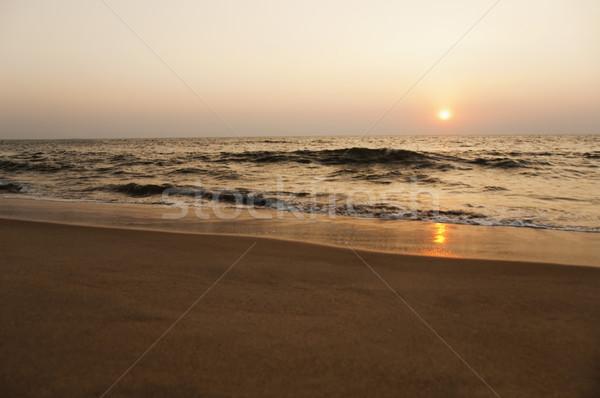 пляж закат Гоа Индия небе морем Сток-фото © imagedb