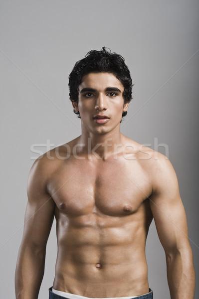 Portrait homme fitness poitrine bien-être Photo stock © imagedb