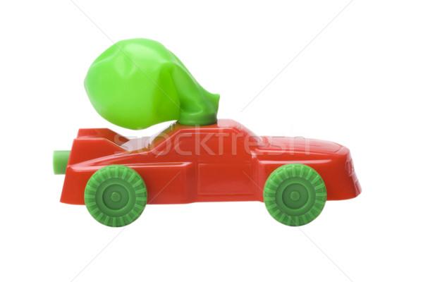 игрушку автомобилей зеленый красный шаре Сток-фото © imagedb
