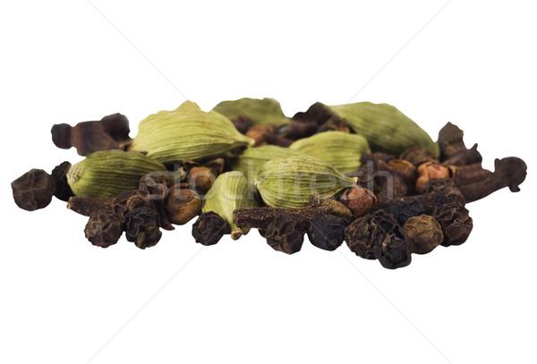 Primer plano grupo pimienta frescos elección especias Foto stock © imagedb