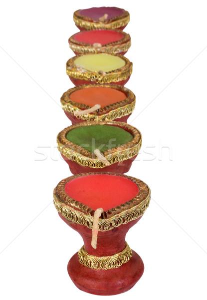 Oleju lampy rząd projektu zielone Zdjęcia stock © imagedb