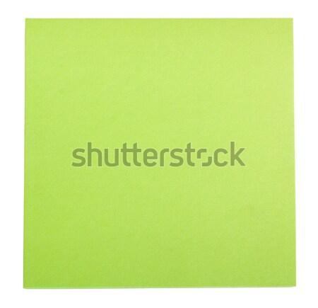 Yapışkan dikkat kâğıt yeşil yönetim Stok fotoğraf © imagedb