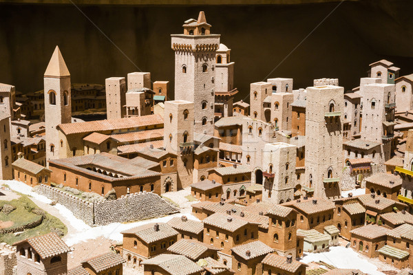 Stock photo: High angle view of a town