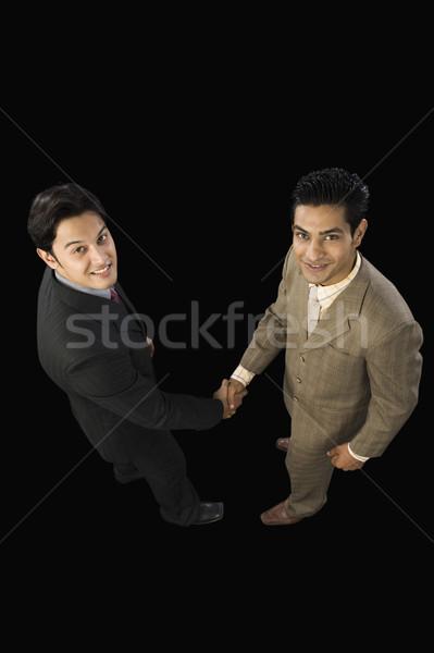 View due imprenditori stringe la mano business Foto d'archivio © imagedb