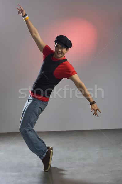 Retrato homem posando moda diversão jeans Foto stock © imagedb