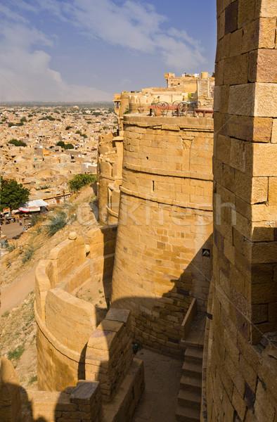 Fort stad hemel wolk toren heuvel Stockfoto © imagedb