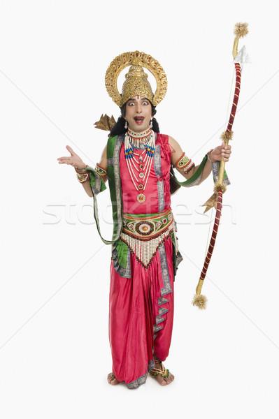 Portré színpad művész mitológiai karakter tart Stock fotó © imagedb