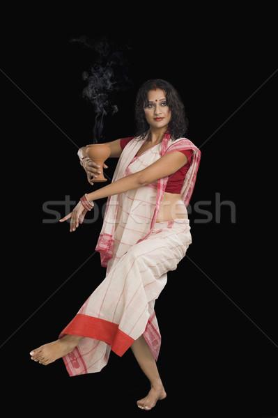 Kadın ayin dans güzellik genç Stok fotoğraf © imagedb