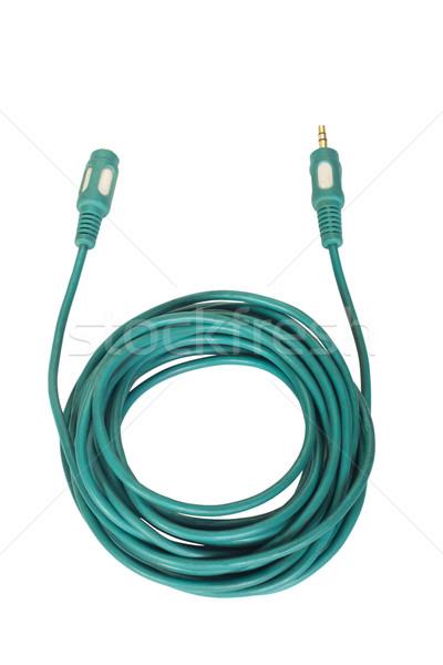 Сток-фото: данные · кабеля · технологий · зеленый · связи