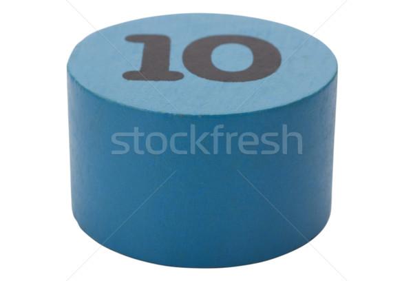 Número 10 circular forma educación juguete Foto stock © imagedb