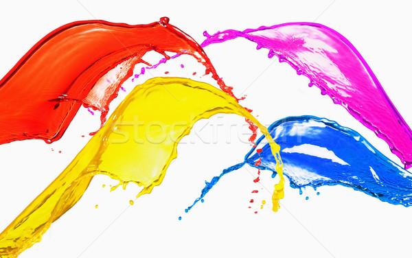 всплеск различный цвета красный цветами движения Сток-фото © imagedb