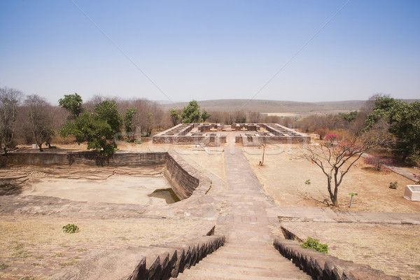 Buddhist monastery at Sanchi, Madhya Pradesh, India Stock photo © imagedb