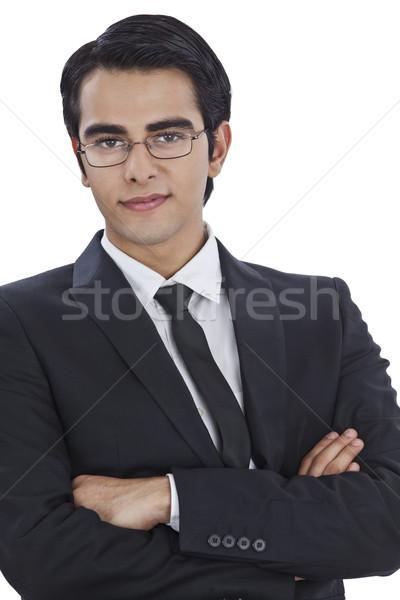 Retrato empresário sorridente homem jovem Foto stock © imagedb