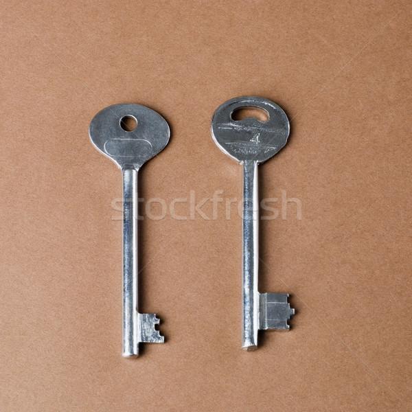 Közelkép kulcsok fém biztonság stúdió széf Stock fotó © imagedb