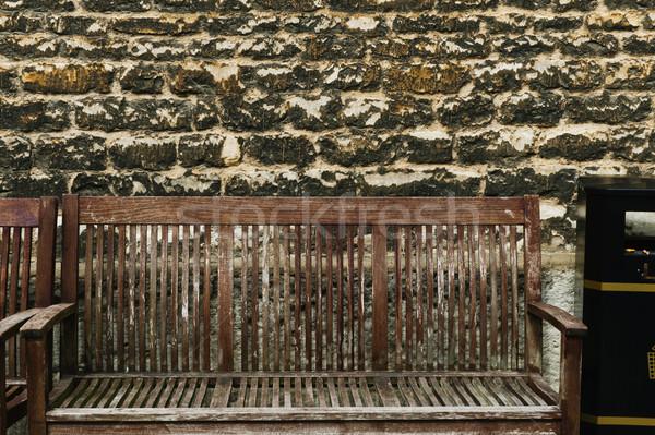 выветрившийся стены Оксфорд Оксфордшир Англии древесины Сток-фото © imagedb