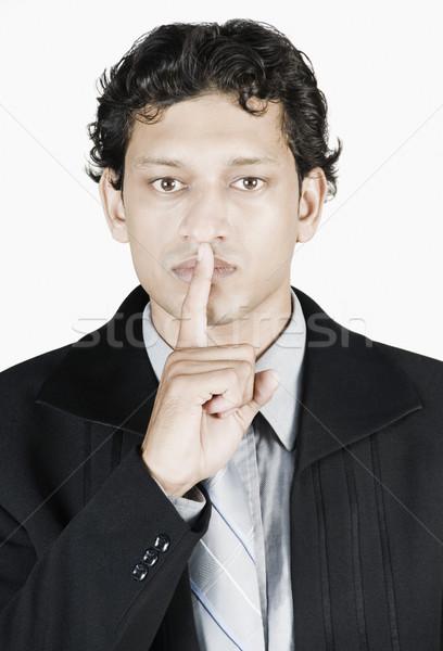 Stock fotó: üzletember · ujjak · ajkak · üzlet · férfi · férfiak