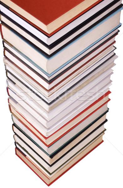 Közelkép boglya könyvek könyv oktatás tanulás Stock fotó © imagedb