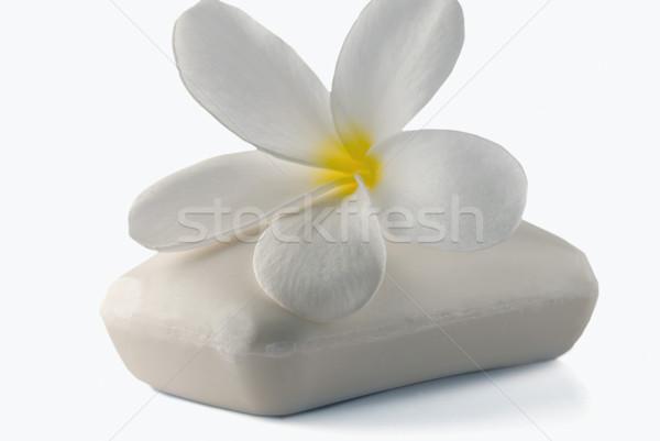 Bloem bar zeep fotografie witte achtergrond Stockfoto © imagedb