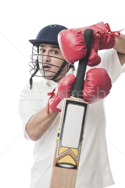 играет крикет человека спорт молодые Постоянный Сток-фото © imagedb