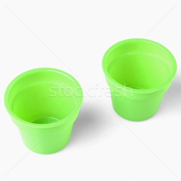 Primer plano dos verde estudio plástico fotografía Foto stock © imagedb