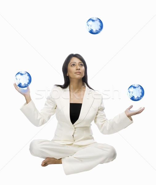 Işkadını hokkabazlık kadın dünya yoga Stok fotoğraf © imagedb