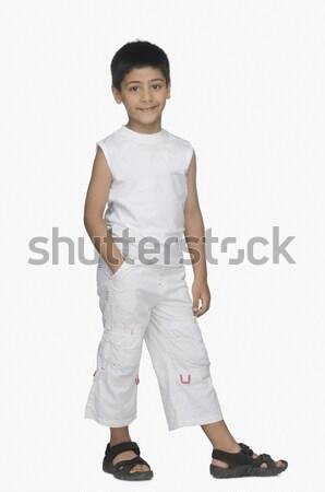 Retrato menino sorridente criança fundo criança Foto stock © imagedb