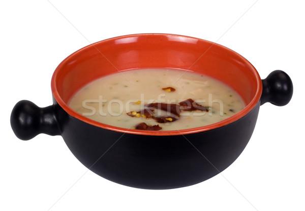 Közelkép serpenyő leves chili pelyhek étel Stock fotó © imagedb