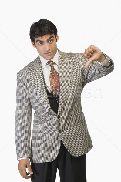 Biznesmen w dół działalności smutek Zdjęcia stock © imagedb