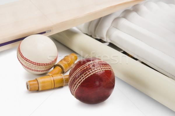 Cricket équipement groupe sécurité protection Photo stock © imagedb