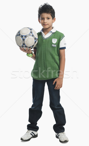 Portrait garçon ballon sport enfant Photo stock © imagedb