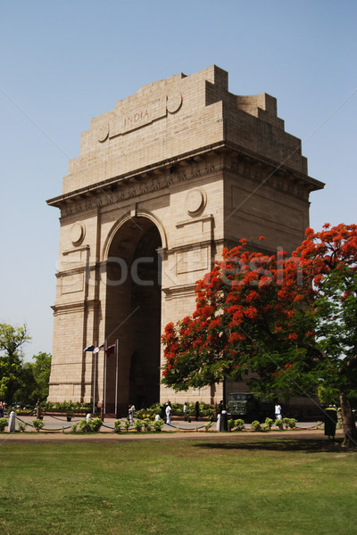 Oorlog stad Indië poort Delhi boom Stockfoto © imagedb