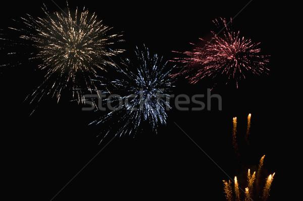 фейерверк отображения ночь события фотографии ярко Сток-фото © imagedb