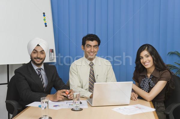 бизнеса заседание служба воды ноутбука Сток-фото © imagedb