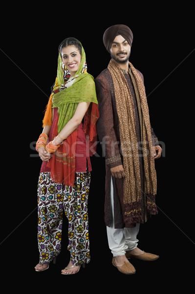 Retrato sikh casal sorridente felicidade fotografia Foto stock © imagedb