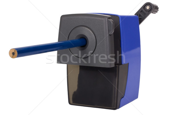 Lápis dentro apontador projeto preto plástico Foto stock © imagedb