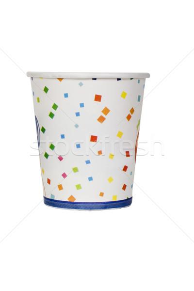 Jednorazowy kubek papieru projektu wzór Zdjęcia stock © imagedb