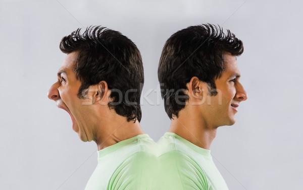 Digital composite obraz człowiek zielone t-shirt Zdjęcia stock © imagedb