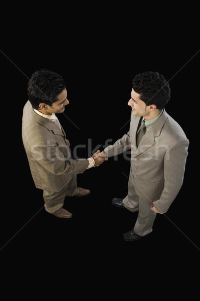 мнение два бизнесменов рукопожатием бизнесмен Сток-фото © imagedb
