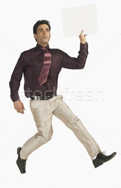 Сток-фото: бизнесмен · работает · человека · галстук · реклама · один