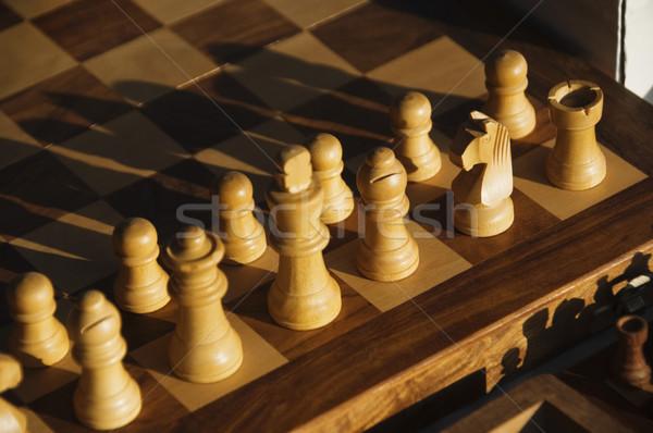 Сток-фото: шахматная · доска · Гоа · Индия · древесины · фотографии
