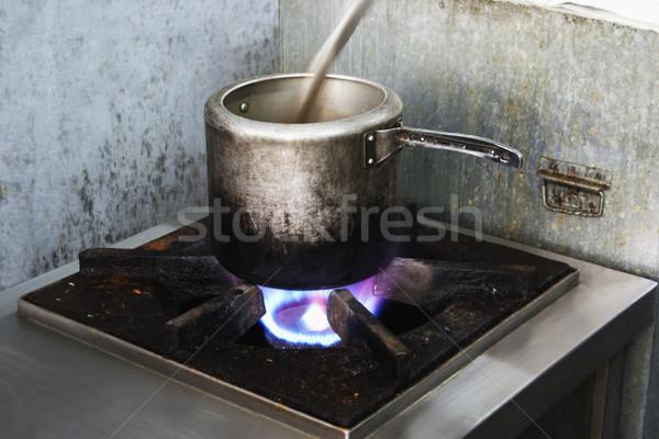 давление кухне приготовления печи горизонтальный Сток-фото © imagedb
