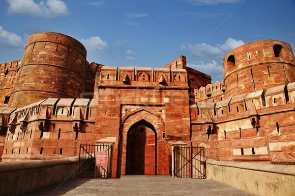 Turisti ingresso fort India cielo nube Foto d'archivio © imagedb
