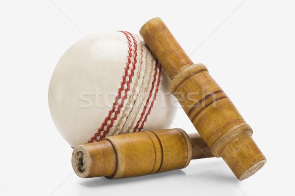 Primo piano cricket palla nuovo fotografia orizzontale Foto d'archivio © imagedb